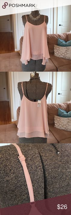 NWT SIZE: XL & L 🌟 LIGHT PINK ELEGANT BLOUSE New with tags, light pink blouse with adjustable straps! Material is light and delicate- perfect for the summer! Size XL and L available, size large is pictured Tops Blouses