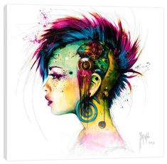 Cyber Punk Gallery Wrapped Canvas by Patrice Murciano at Art.com