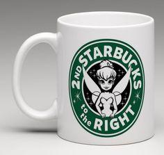 Starbucks Disney Inspired Tinkerbell Peter Pan Logo Coffee Mug Tea Cup Gift