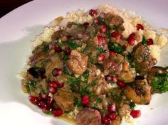 Serves 6 Prep Time: 20 minutes Cook Time: 2 hours Total Time: 2 hours, 20 minutes Ingredients: 500 – 750 grams boneless lamb, cut into cubes teaspoon turmeric 1 teaspoon sal. Tagine Cooking, Potato Rice, Healthy Grains, Healthy Sugar, Organic Turmeric, Pomegranate Seeds, Nut Butter, Stew, Lamb