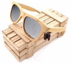 SOOKIE Luxury Handmade Skateboard Wood Polarized Sunglasses Wooden Frame Glasses