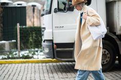 Stockholm Fashion Week Fall 2014 Street Style Day 1. #streetstyle #denim