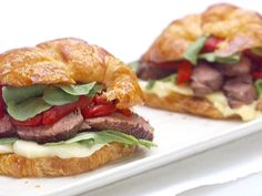 Parisian Steak and Cheese Croissant Sandwiches recipe from Giada De Laurentiis via Food Network