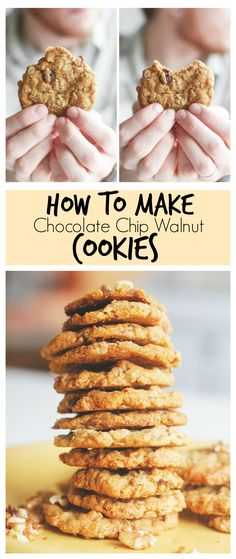 Chocolate Chip Walnut Cookies - Vegan, egg-free, dairy-free and delicious!