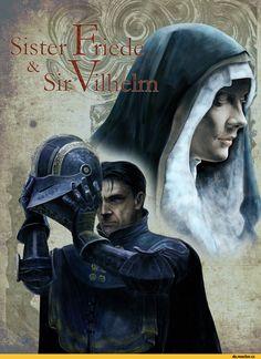 Sir Vilhelm,DSIII персонажи,Dark Souls 3,Dark Souls,фэндомы,Sister Friede,DS art