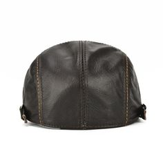 232f9338 Mens Genuine Cowhide Leather Beret Hat Solid Casual Warm Forward Caps  Adjustable - Banggood Mobile Leather