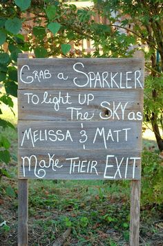 Sparklers! Great for an outdoor wedding.  give the guests a headsup!