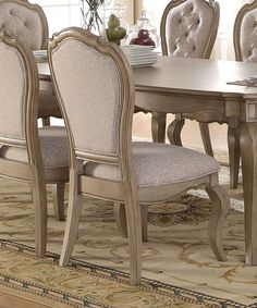 Chic Donatella Upholstered Dining Chair (Set of by One Allium Way kitchen dining furniture sale from top store Wood Table Bases, Solid Wood Dining Chairs, Upholstered Dining Chairs, Dining Chair Set, Table And Chairs, Side Chairs, Dining Sets, Dining Tables, Dining Rooms