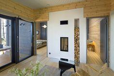 Honka Blockhaus Modell Lokki Kamin