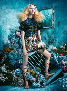 visual optimism; fashion editorials, shows, campaigns & more!: tutte in fiore: luisa bianchin by sandrine dulermo and michael labica for glamour italia april 2015 #fashion #photography #editorial