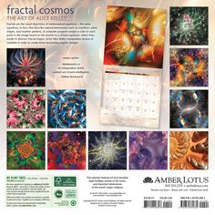 Fractal Cosmos 2018 Wall Calendar: The Mathematical Art of Alice Kelley: Alice Kelley, Amber Lotus Publishing: 0762109026823: Amazon.com: Books