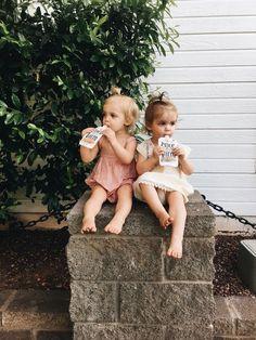 cute kiddies on a stop