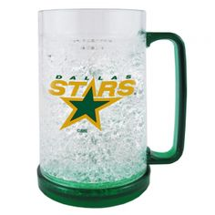 Boelter NHL 16 Ounce Freezer Mug - Dallas Stars. Keep In The Freezer So Your Next Beverage Is Ice Cold! This 16Oz Double-Walled, Acrylic Mug Is Insulated With Crystals, And Is Decorated With Team-Colored Handle And Base. Mug Is Bpa-Free And Highly Durable.  Boelter NHL 16 Ounce Freezer Mug - Dallas StarsSport Theme: HockeyLeague: NHLTeam: Dallas Stars