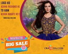 Get ready for women fashion biggest offer on crazzon bazar. View details of this http://www.crazzon.com/ Whatsapp 07405557700 #salwarsuit #womenstyle #bollywoodstyle #offer #newstyle #newtrend #50off #gift #anarkalisuit #partywear #bollywood #sarees,#thedrapecollective,#bangalore,#keralasarees #madeinindia #handloom #handloomcotton #forsale #exclusive, #collection #navratri, #silk, #paithani #designer #leheriya #sari #ammk #fashion,#southsilk