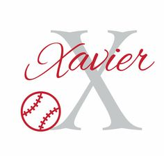 Baseball Wall Decal Initial And Name Vinyl By Wallartsy