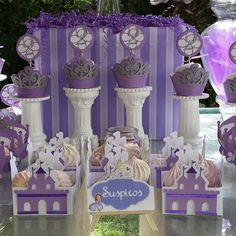 Princess Sofia birthday party treats! See more party ideas at CatchMyParty.com!