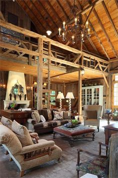 Homey Country/Rustic Living & Family Room by Irwin Weiner on HomePortfolio