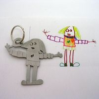 this idea is genius! I need to pick one of my kid's drawings to make one of these!