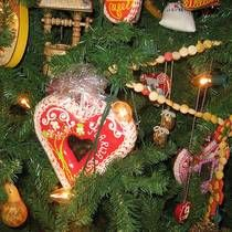 Croatian Licitar Honeybread Cookies on Christmas Tree