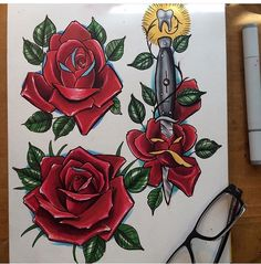 Some new rose ideas... For tattoo booking info.. In Houston or Dallas 214-280-65-09