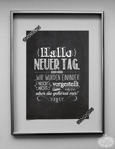 Druck mit Typo-Motiv inspiriert von der klassischen Kreide-Tafel-Romantik! Motivation und Philosophie für die Wände! Ein wunderschönes Wandaccessoire für Küche, Wohnzimmer oder Arbeitsplatz -...