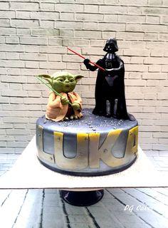 Star wars cake! Yoda, Darth Vader stormtrooper