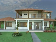 The Basic Principles of Dream Home Plans and How to Choose the Most Suitable Exterior Paint Colors You Can Benefit From Starting Today - lowesbyte Pool House Plans, Dream House Plans, Modern House Plans, Style At Home, House Design Pictures, Village House Design, Home Building Design, House Paint Exterior, Architecture
