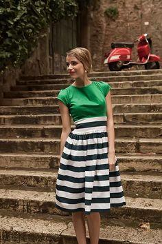 Gondola Dress Green | Roamin Holiday Collection by Shabby Apple