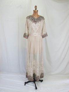 1900's Edwardian Wedding Dress Or Evening Gown