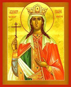 Irene of Athens (c. Macedonia, Irene, Medieval, St G, Byzantine Art, Orthodox Icons, Religious Art, Romans, Saints