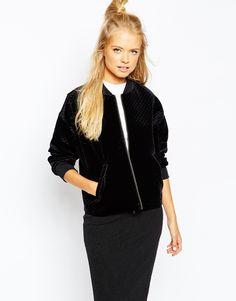 MONKI VELVET BOMBER JACKET #style #fashion #trend #onlineshop #shoptagr