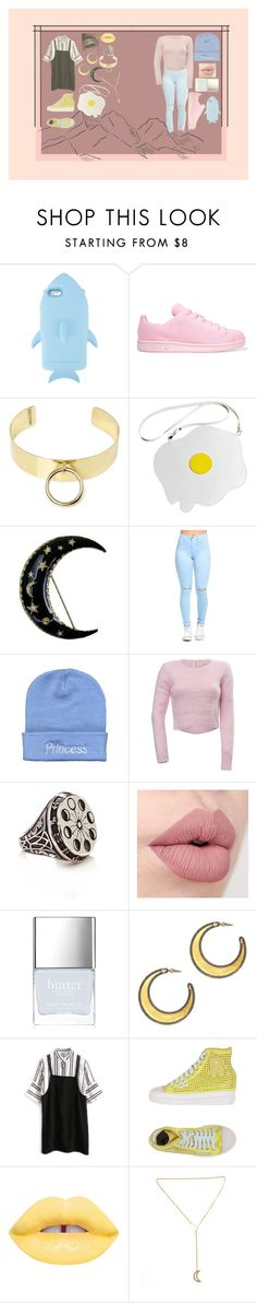 """""""Halloween; Werewolf and Sea Monster +800FOLLOWERS!"""" by jack-rabbit ❤ liked on Polyvore featuring STELLA McCARTNEY, adidas Originals, MANIAMANIA, Beanie Babes, Cotton Candy, Butter London, House of Harlow 1960 and Ruco Line"""