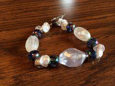 Handmade Glass Beaded Bracelet by wickedhoule on Etsy, $30.00