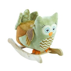 Owliver Green Owl Rocker