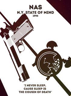 Rap Posters: Nas - N.Y. State of Mind