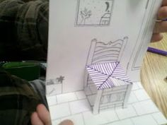 pop up van gogh's chair: Found on Art with Mrs Smith