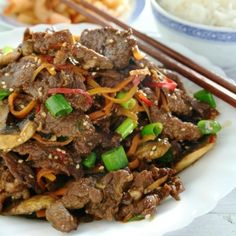 Beef Bulgogi is a classic Korean dish of grilled marinated beef but it is also great stir-fried.