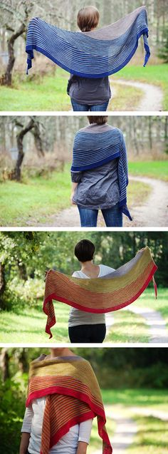 Color Affection Shawl by Veera Välimäki: a fun and relaxing way to play with color and contrast