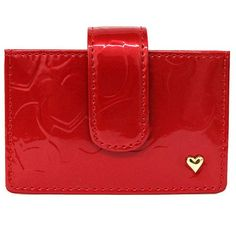 -Heart embossed card holder