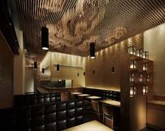 Japanese designer Takeshi Sano of SWeet Co. has created a ceiling design, using thousands of wooden sticks to create a cloud effect, in the Tsujita restaurant in Los Angeles, California. Japanese Restaurant Design, Restaurant Interior Design, Design Hotel, Cafe Interior, Japanese Design, Interior And Exterior, Restaurant Interiors, Interior Ideas, Plafond Design