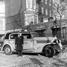 Taxi cabs that prowled New York City in the 1940s, and the rough-looking, distinctive characters who drove them.