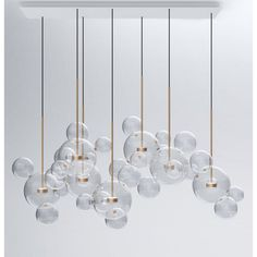 "Product Name:  Bolle BTC 34Z Pendant Replica  Certification: UL & CE  Standard Delivery : 3 - 4 weeks  Description:Bolle is inspired by the lightness of soap bubbles as a metaphor for the immateriality of light. Using the ""a lume"" technique from the Veneto region in Italy, Bolle houses a suspended brass bulb within transparent spheres that illuminate the room as well as reflect light off the curved interiors of the sphere. The Bolle lamp is available in three sizes: with 1, 4 and 6 sp..."