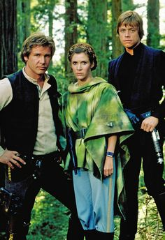Han Solo, Princess Leia and Luke Skywalker - Star Wars