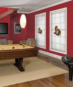 Ottawa Senators NHL® Roller Shade. Every NHL® Team Available!