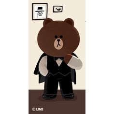 Line Brown Bear, Brown Line, Bear Gif, Cony Brown, Bunny And Bear, Cute Love Cartoons, Emoji Faces, Line Friends, Beautiful Anime Girl
