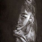 Julia als Kind Zeichnung  1992 Fictional Characters, Pictures, Art, Monochrome, Painting Art, Photo Illustration, Fantasy Characters