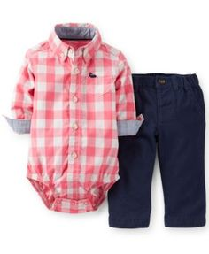 Carter's Baby Boys' 2-Piece Bodysuit & Pants Set | macys.com