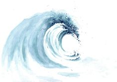 Surf, Watercolor Wave, Watercolor Paintings, Artsy Fartsy, Art Inspo, Art Drawings, Art Projects, Sketches, Waves