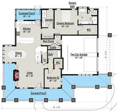Add second bath upstairs in bonus room Storybook Country House Plan with Sturdy Porch - The Plan, How To Plan, New House Plans, House Floor Plans, Porch Supports, Bonus Rooms, House With Porch, Open Floor, 2nd Floor