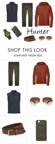 """""""Hunter Huntsman"""" by freckled-gypsy on Polyvore featuring River Island, Outdoor Research, Jack Wolfskin, Ray-Ban, J.W. Anderson, Abercrombie & Fitch, Chronologia, men's fashion and menswear"""